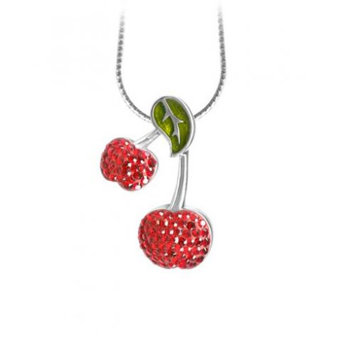 Crystal Cherry Necklace ACNEH-CHERRY-A