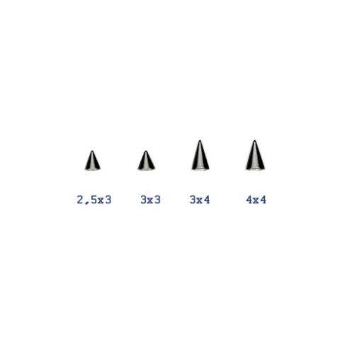 Fekete acélkúpok 1.2 mm-es menetű szárra BK-STCone