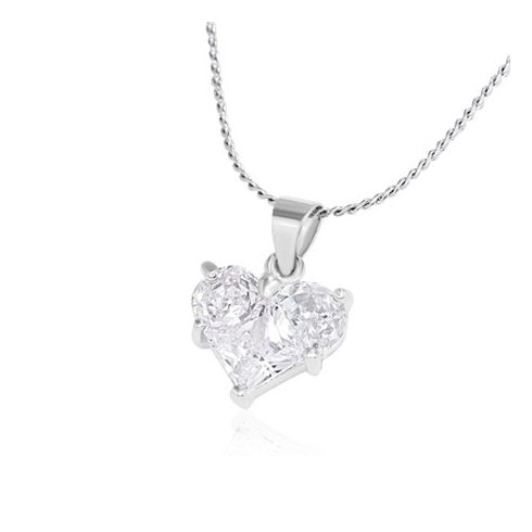 Crystal Love Heart Charm (Small) - Fashion Necklace CCZS116