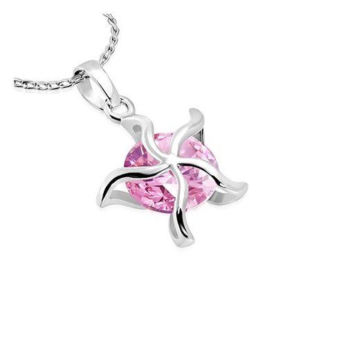 Tengeri csillag divatnyaklánc cirkóniakővel - RO - CCZS159