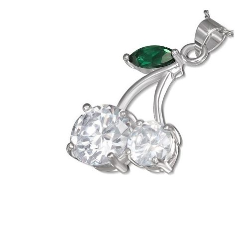 Crystal Cherry Charm - Fashion Necklace CCZS209