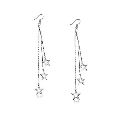 Cut-Out Trio Shining Star Fashion Earrings FEBS48
