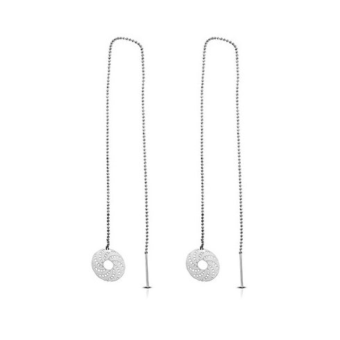 Fancy Circle Disc Threader Fashion Earrings FEBS491