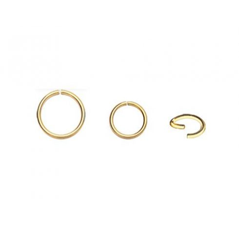 14 K Gold Continuous Ring for Nose, Tragus, Helix G-BSR