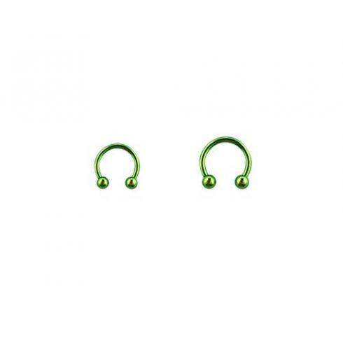 Zöld pvd patkópiercing golyókkal (1.2 mm) GR-BCB