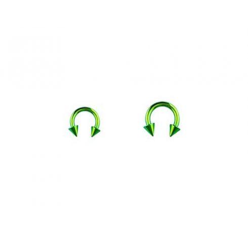 Zöld pvd patkópiercing kúpokkal GR-BCS
