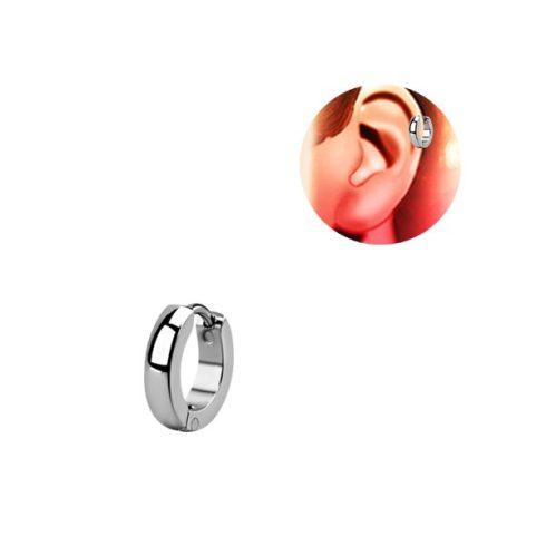 Fényes, lekerekített sebészeti acél helix fülporcgyűrű HER247