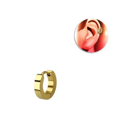 Aranyszínű, szögletes keresztmetszetű sebészeti acél helixgyűrű HER248G