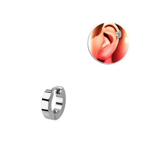 Magasfényű, szögletes sebészeti acél helixgyűrű HER248H