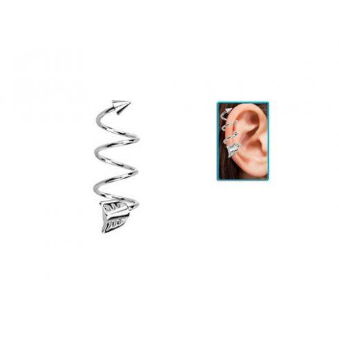 Tripla spirál nyílvégű helix piercing HESPW
