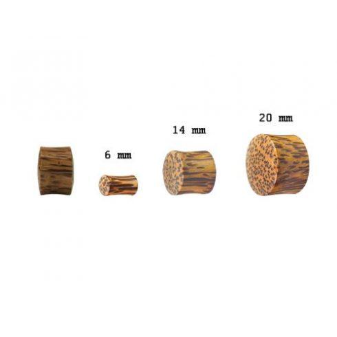 Kókuszfa fültágító dugó - plug OCWPL-M