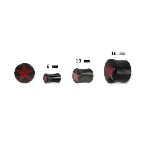Szaru fültágító dugó - vörös csillag OHOPL-04L