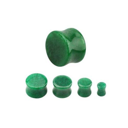 Jade fültágító dugó 18 mm-es - természetes ásvány OJAPL-18