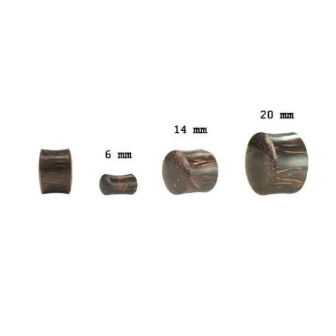 Pálmafa fültágító dugó - plug OPWPL-M