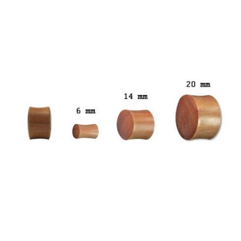 Rózsafa fültágító dugó - plug ORWPL-L