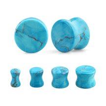 Türkiz fültágító dugók - természetes ásvány OTUPL-5-6