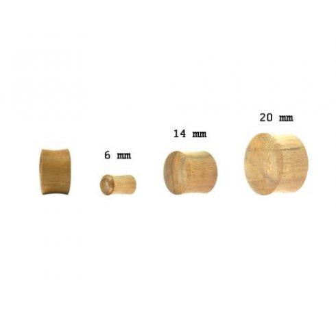 Wood Plug - Teak Wood OTWPL-S - Hallmark Piercing and Jewellery