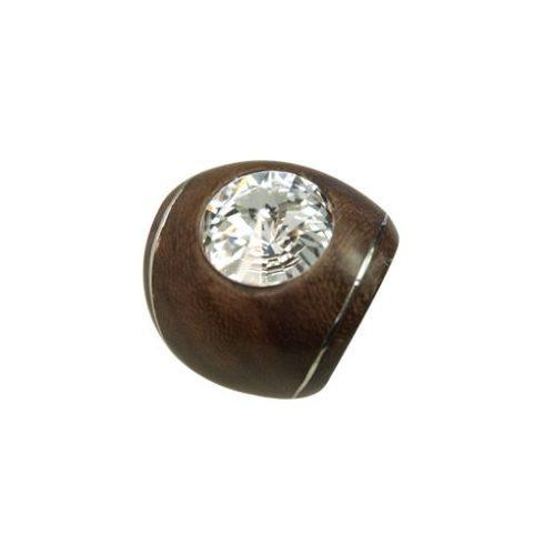 Fémberakásos fagyűrű Swarovski kristállyal OWORI-04
