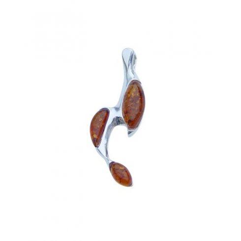 Női ezüstmedál borostyánokkal P1743.1