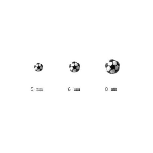 Akril kiegészítő nyelvpiercinghez - foci PD-OBALL