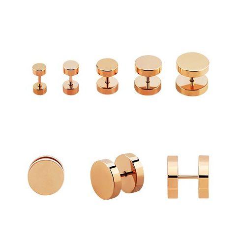 Rose Gold PVD Steel Fake Plugs RG-BRMUFP2