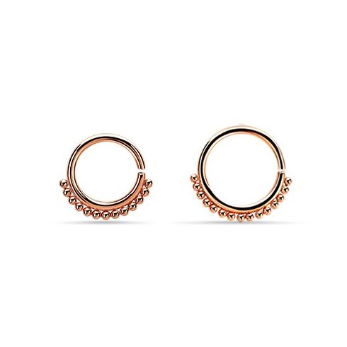 Pvd Rose Gold Annealed Surgical Steel Septum Ring 1 2 Mm S