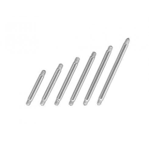 Egyenes acélszárak piercinghez 1.6 mm ST-Bwire-STRL