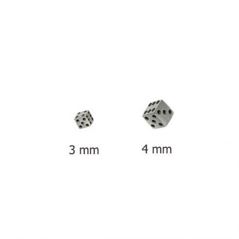 Acél dobókocka - piercing-kiegészítő, alkatrész ST-DICE-P