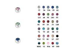 Köves acélgolyók 30 színben 1.6x5 mm ST-JBall5