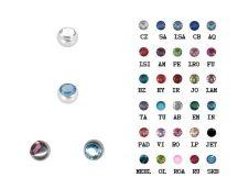 Nagyköves acélgolyók Swarovski kristályokkal ST-JBall5B