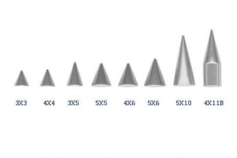 Acéltüske 1.6 mm-es piercingszárra ST-Spike