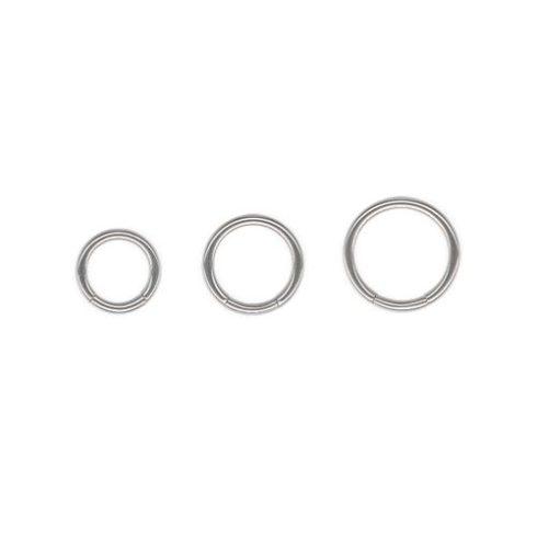 Titán szegmenszáras karikapiercing - 1.2 mm TBCRS