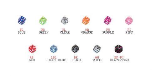 UV akril dobókockák acélpersellyel UV-Dice
