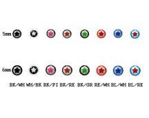 UV csillagos nyelvpiercing kiegészítő golyók UV-SBALL
