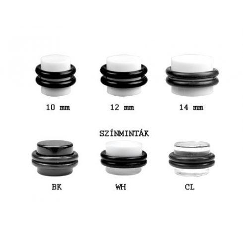 Akril fültágító dugó gumigyűrűkkel VPO 08-10