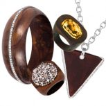 Wooden Jewellery with Swarovski Crystals